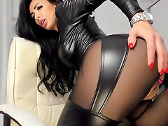 Hot pvc latex chinese school all Camgirl in Fake Leather