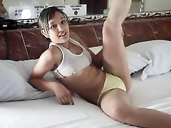 Lily In Wet Yellow Panties