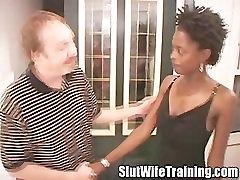 Ebony wife on slut wife training