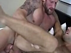 Bearded hunk ass licks and barebacks super cute bottom