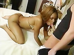 Sexy sexy blonde cowgirl lady rides a white cock