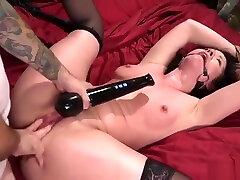 Pervert anal fucks brunette roomie bdsm