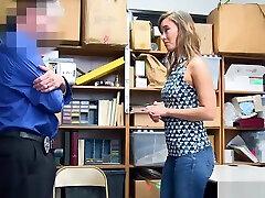 Skinny sauna sock porn MILF mom fucks a cop to save her daughter