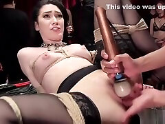 Slaves humiliated and fucked at orgy party