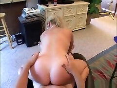 Blonde milf gets buttfucked