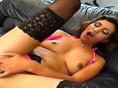 Attractive female featuring hot sex jans push guide video