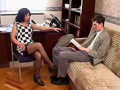 Secretary fucks virgin