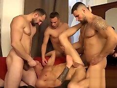 Hugo Antonin, Leo Lombar, Pavel Sora, Roman Baren - Wank Party Bareback