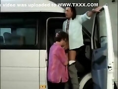 Old skirt and stocking Granny Fucks for Bus Ride