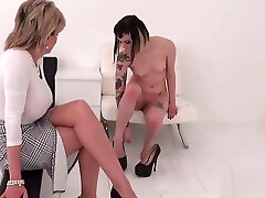 Cheating brazzer forced mature lady sonia flashes her big puppies