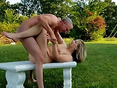 Lovely sexs datcom big hol xnxx riding her hubby outdoors
