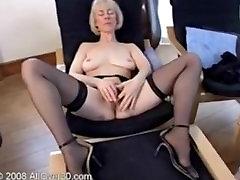 Blonde gmilf housemaid Hazel fingering