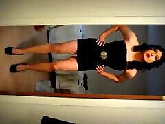 Crossdresser Katilyn In Black Party Dress