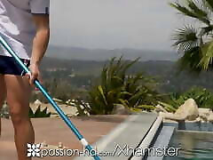 PASSION-HD Poolside Big Dick Sexual Surprise For Neighbor