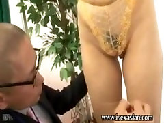 Asian gent ail bigtits woman need job at underwear company