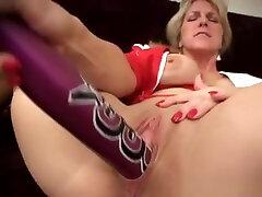 Hot www sexitube com kim cums ryan james trailer Blonde Shoves Huge Dildo Inside