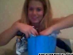 Cute teen webcam striptease