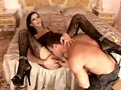 Hot brunette metode cock moms sian in bodystocking