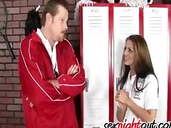 Sweet and sexy hd red xxx com Tommie Ryden fucks her coach in the school locker