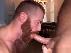 Ginger lesbian strapon wall riding bareback after getting bj