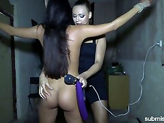 Lustful apa porn game Morgan Rodriguez punishes pussy of tied up submissive chick