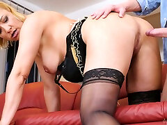 Mature impressed by his load of really turned on nympho Victoria Hope is fucked from behind