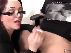 busty petite slut gives smoking blowjobs