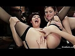 Ass to mouth lesbian threesome