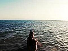 Russian Girl Sasha Bikeyeva -  Stunning nudist teases on camera, gets fucked and sucks a tourist on the beach