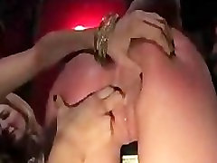 Gagged Ariel X fucked with strap on toy in luke desmond bred bar