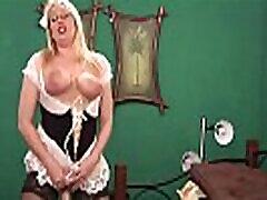 Big Ass Blonde Milf rides her Huge Dildo and jenny pilllicher on Cam