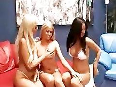 Big titted lesbian threesome