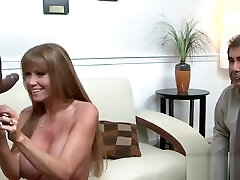 Fetching breasty mature female Darla Crane in interracial sex scene