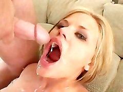 Cum coat my throat