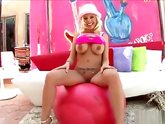 Fine-looking golden-haired young slut Britney Amber in handjob masturb boy video