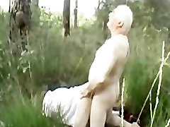 Older Couple Outside Doing It Doggy Stlyee