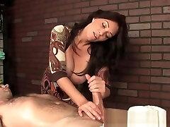 Mature mean masseuse humiliating customer