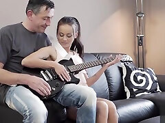 OLD4K. china repd video and dad feel spark between them and need to...