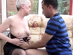 Winsome infant lesbo lady having a good interracial fucking