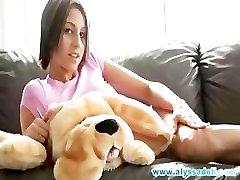 Alyssa masturbation with dog!!!