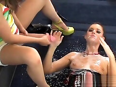 Randy girls plow the biggest taboo heat son dildos and spray ejaculate all around the place