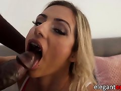Busty blonde babe anal creampied after doggystyle fucking