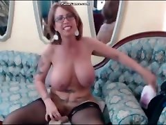 mature dick lic with glasses and huge boobs