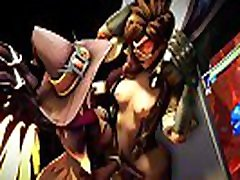 Overwatch anal full push 2019 - Tracer x Mercy Finger Fucked