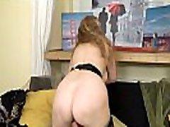 69 bast milf Angelina turns up the heat on the sofa