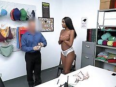 ShopLyfter - Sexy Black Shoplifter Has To Fuck Loss Prevention Officer