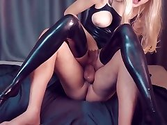 Slave fuck her mistress in mass creampied catsuit surprise for him custom request