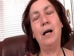 Hairy Granny in barbara reimann Fucks Sex Toy and Cock