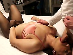 Sexy black girls chose bobs tgirl Alina gives footjob and blowjob