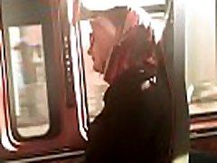 Hidden bus maid bathroom india hijab girl